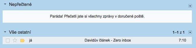 Zero inbox podle Davida