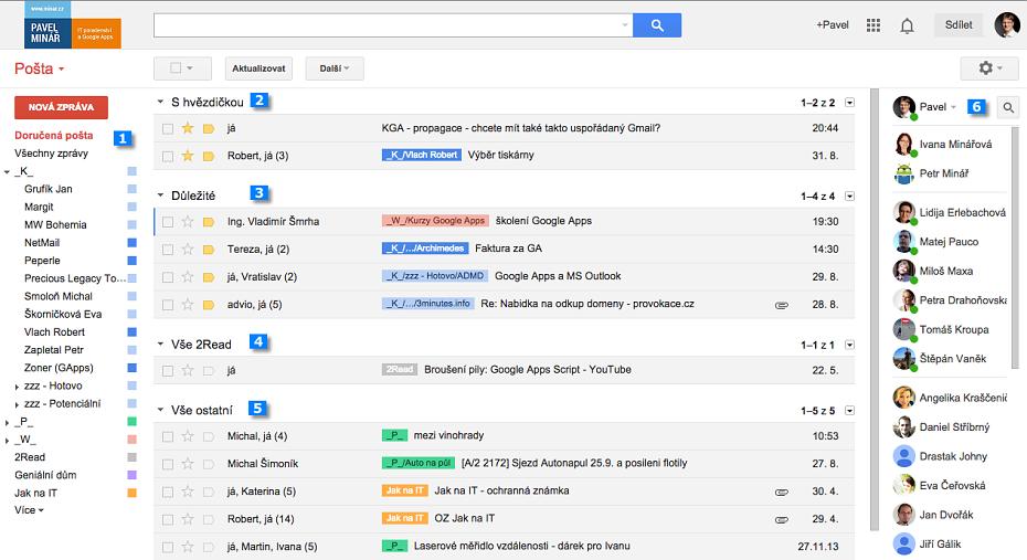 Jak má vypadat Gmail